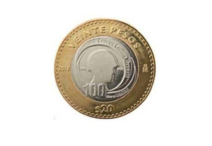 Esta es la moneda conmemorativa de 20 pesos con motivo de que se cumple un centenario de existencia del Ejército. (Cortesía)
