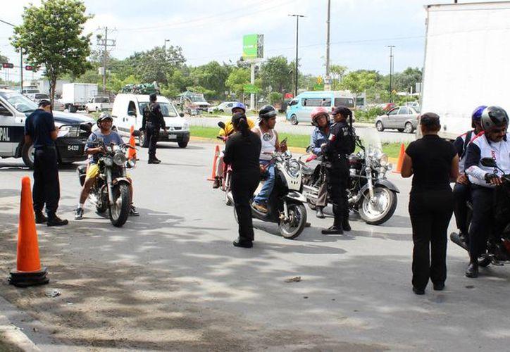 En el programa participan diferentes grupos policiales. (Eric Galindo/SIPSE)