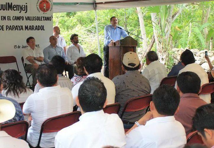 El alcalde Roger Alcocer dio inicio al programa Ko'ox Muul Menyaj. (Milenio Novedades)