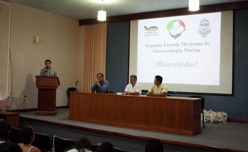 Imagen de la reunión de la 'Escuela de Mamíferos Marinos 2015', en la que participan estudiantes e investigadores de más de 30 instituciones nacionales e internacionales. (Milenio Novedades)