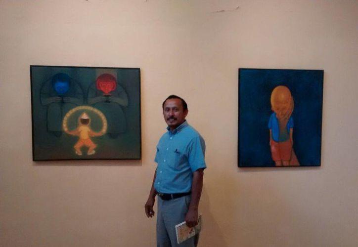 Miguel Angel Cimé desea transmitir emociones con su obra. (SIPSE)
