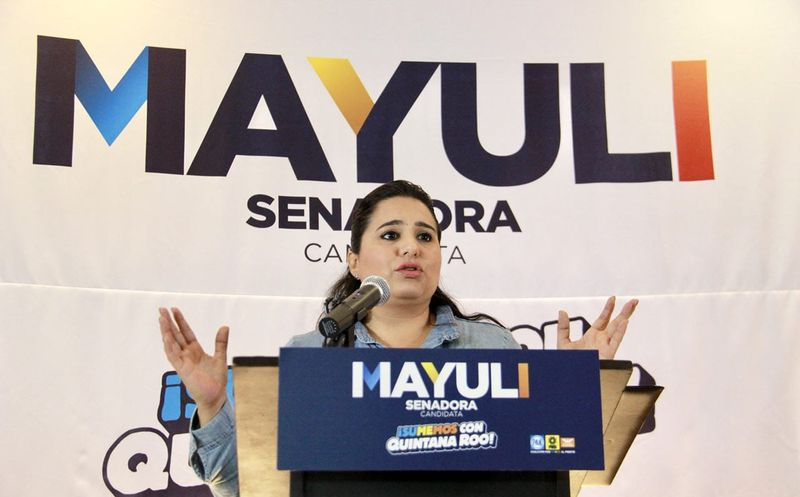 """La abanderada de la coalición """"Por México al frente""""  participó en una segunda conferencia para exponer sus propuestas. (Foto: Redacción/SIPSE)"""