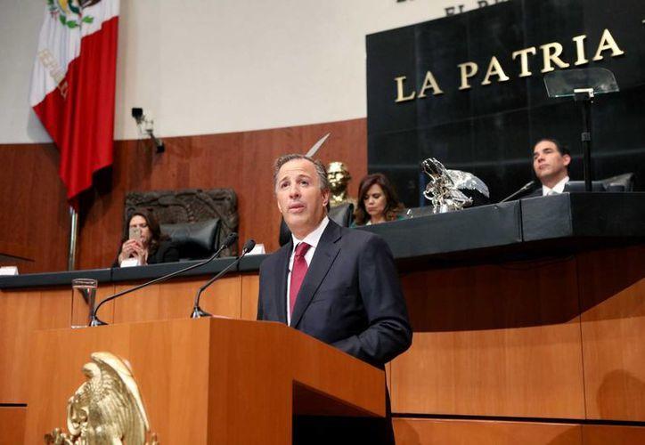 José Antonio Meade sostuvo ante el pleno que no hay margen para un ajuste excesivo y recibió reclamos de modificaciones a la propuesta de gasto. (Notimex)