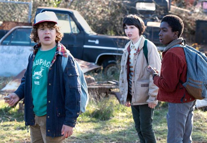 'Stranger Things', la historia de un grupo de amigos que desafían una serie de eventos paranormales, fue una de las más aclamadas por los televidentes.(Netflix)