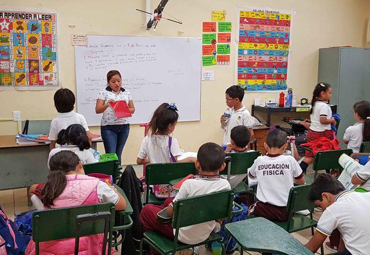 Alumnos de todos los niveles escolares retoman el período escolar. (Jesús Tijerina/SIPSE)
