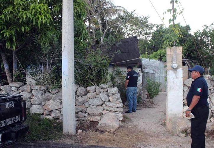 Sinanché está de luto por la trágica muerte de un joven de 16 años. Imagen de la casa donde sucedió la tragedia. (Milenio Novedades)