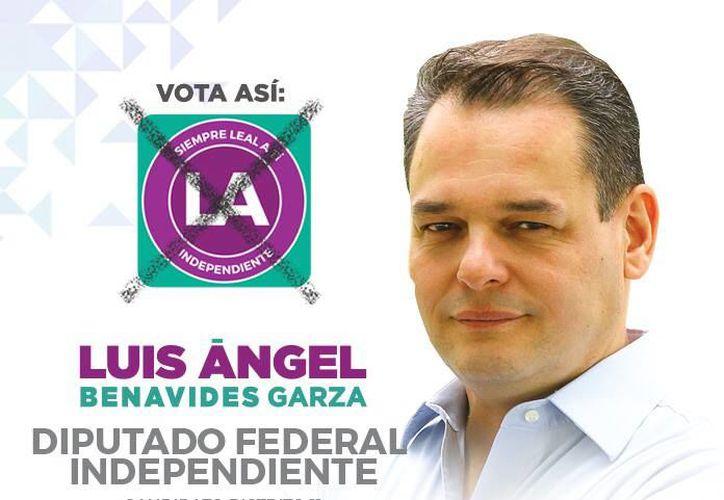 Luis Ángel Benavides Garza, candidato independiente a diputado federal por el distrito 11 de Nuevo León. (Foto: Facebook)
