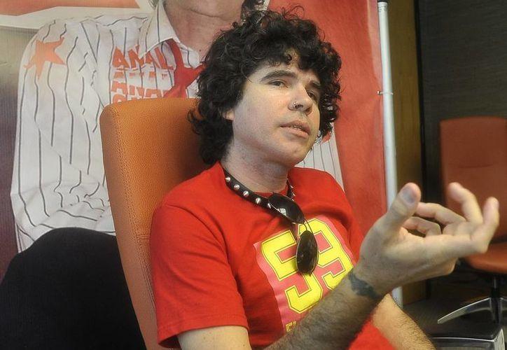 """El líder de la banda cubana de punk-rock """"Porno para Ricardo"""", Gorki Águila. (EFE/Archivo)"""