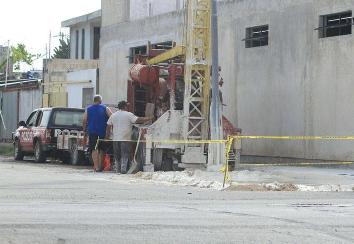 La perforación de los nuevos pozos de absorción estarán listos antes de este año. (Redacción/SIPSE)