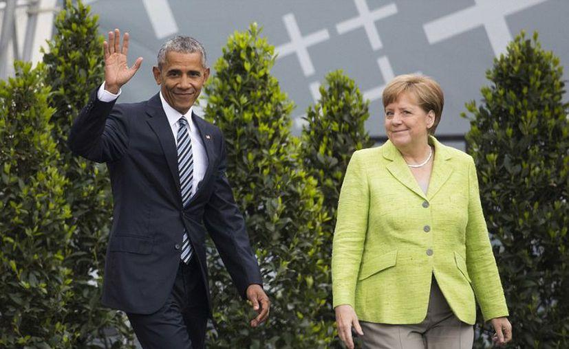 El acto con Obama fue criticado por algunos políticos de la oposición alemana. (López Dóriga Digital)