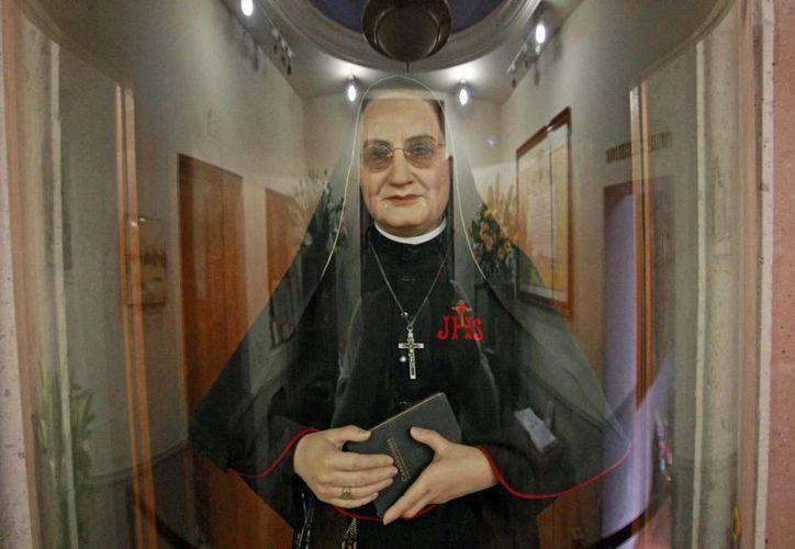 Imagen de la Madre Lupita, canonizada por el Papa Francisco el pasado 12 de mayo. (Archivo/NTX)