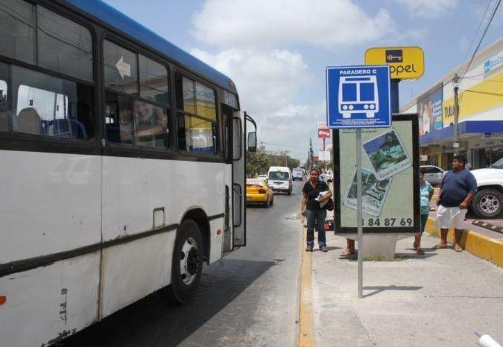 Se financió un negocio privado de publicidad en los paraderos en Cancún. (Redacción)