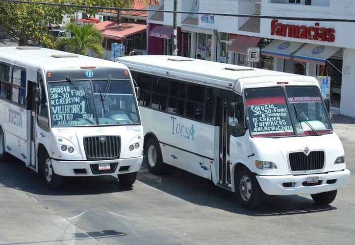 Hoy inicia el operativo que supervisará que los choferes del transporte público apliquen el descuento correspondiente a quienes cuenten con credencial para obtener este beneficio. (Rafael Acevedo/SIPSE)