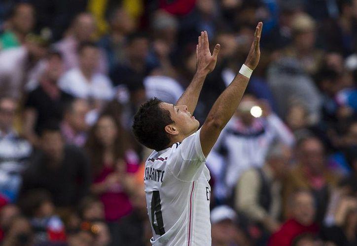 Javier Hernández hizo su cuarto gol como titular en el cuadro merengue. (AP)