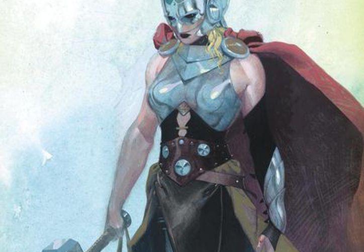 Marvel mostró en redes sociales la imagen de su nuevo personaje femenino, Thor. (twitter.com/Marvel)