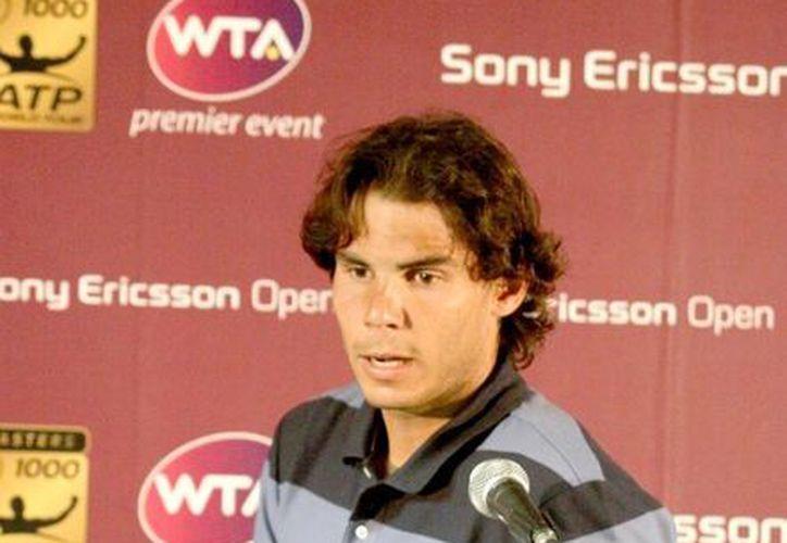 El tenista español dijo que espera llegar bien al Masters de Shanghai, y que dará lo máximo en cada partido hasta el final de la temporada. (Archivo Notimex)