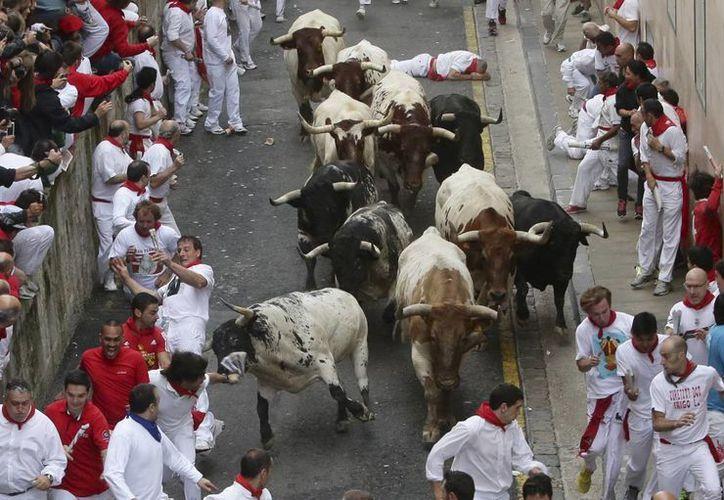 La mundialmente famosa fiesta de Pamplona arrancó el domingo y finaliza el próximo día 14. (EFE)