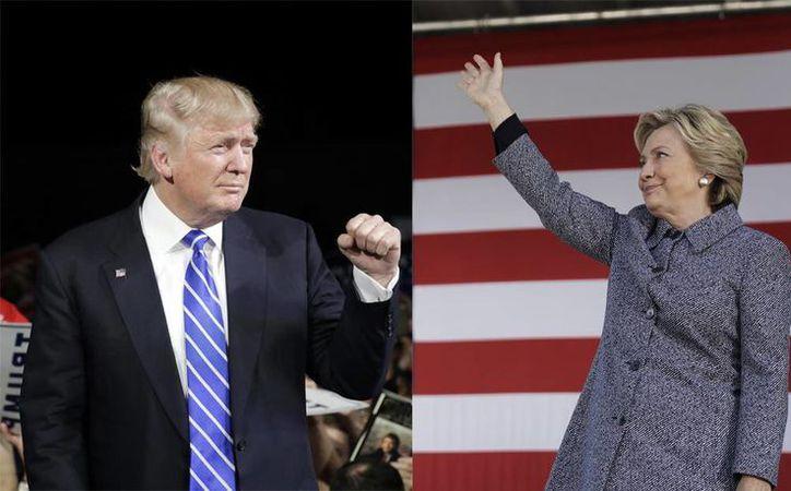 La batalla electoral entre Donald Trump y Hillary Clinton ha ido en aumento. (AP)