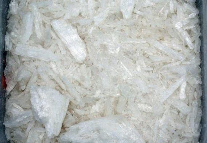 Jaime Trujillo tenía 14.975 kilogramos del producto, para hacer 149 mil 750 dosis a vender en el mercado.(Notimex)