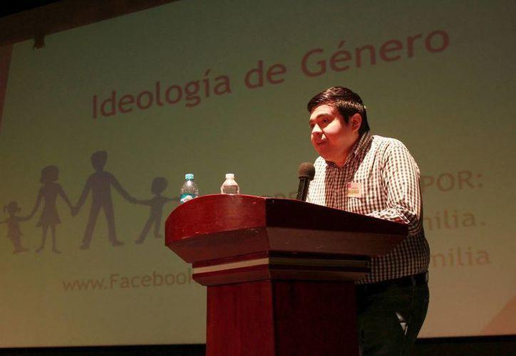 Jesús Abraham Cardeña López, abogado integrante de Caballeros de Colón. (Jorge Acosta)