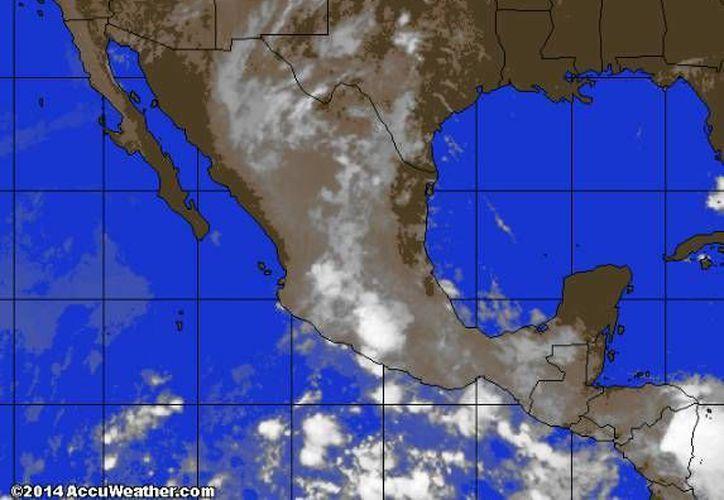 La afluencia de aire húmedo proveniente del mar Caribe cubrirá la Península de Yucatán y provocará lluvias. (Foto/accuweather.com)