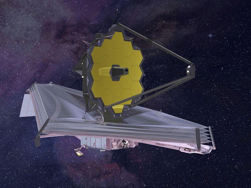 This artist's rendering provided by Northrop Grumman via NASA shows the James Webb Space Telescope.