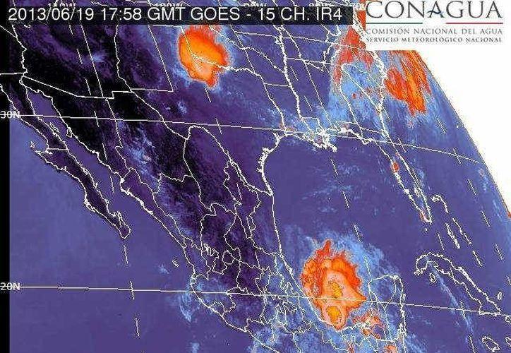 La depresión tropical número 2 se localiza en el Golfo de México.(smn.conagua.gob.mx)