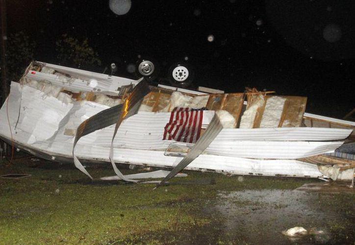 Imagen de los daños causados por la tormenta. (Agencias)