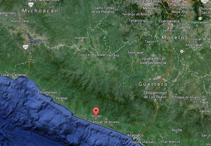 Nino Bautista, operador de 'El Chapo', se enfrentó a balazos contra un sujeto y ambos murieron en Tecpan de Galeana, Guerrero. (Google Maps)