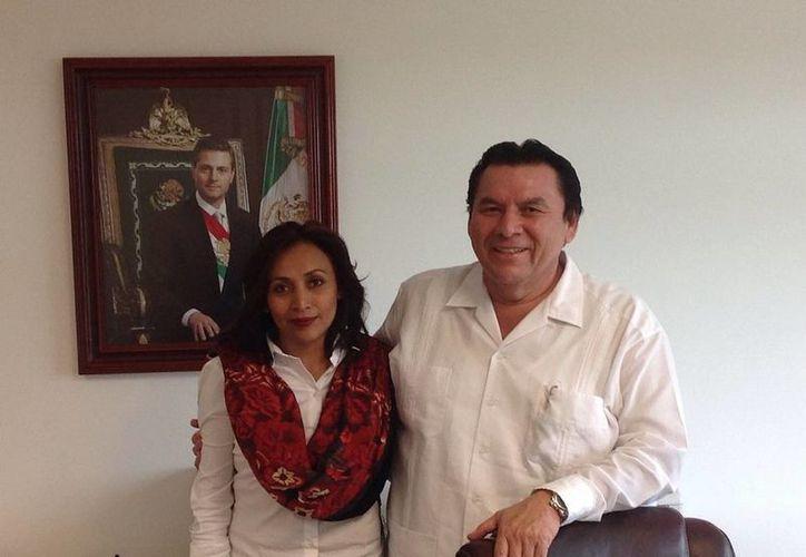 La directora general de la CAPA, Paula González Cetina, sostuvo una reunión con  con el director local de la Comisión Nacional del Agua (Conagua) en la entidad, José Luis Blanco Pajón. (Redacción/SIPSE)