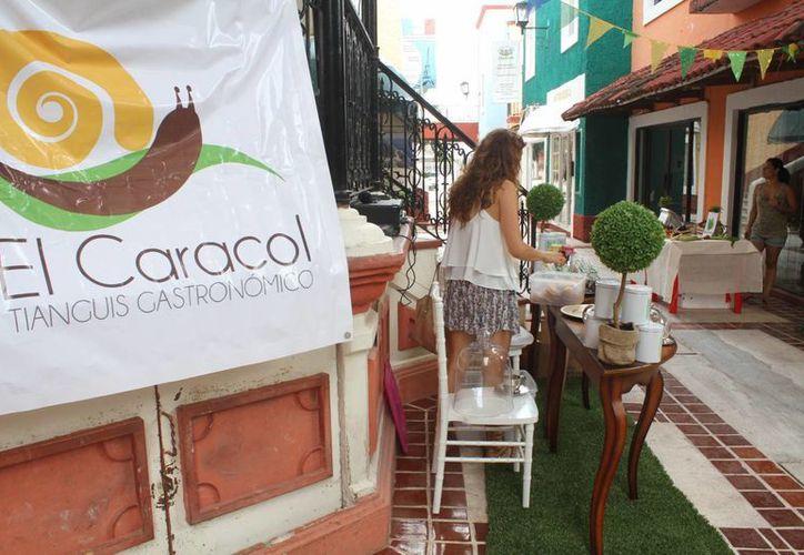 Plaza Bonita fue sede del primer Tianguis Gastronómico Orgánico Artesanal.