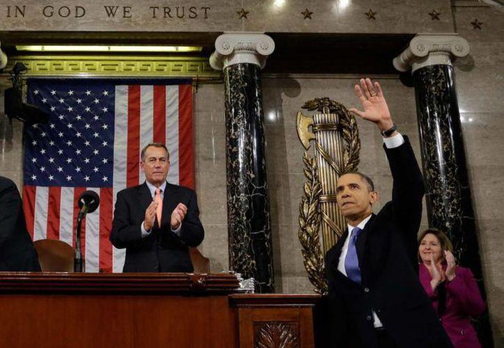 El presidente Barack Obama en imagen del 12 de febrero, cuando asistió a el Capitlio. (Archivo/AP)