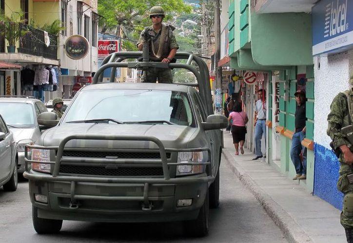 Autoridades en Guerrero refuerzan la seguridad en la capital del estado. (Archivo Notimex)