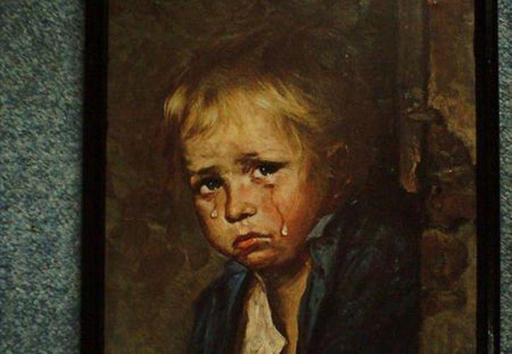 Los cuadros de los Niños Llorones, de Bruno Amadio, también son famosos porque supuestamente atraen el mal. (deina.ru)
