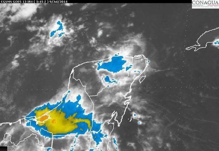 Se detectó presencia de humedad y un canal de baja presión en el sureste del país y la Península de Yucatán. (Redacción/SIPSE)