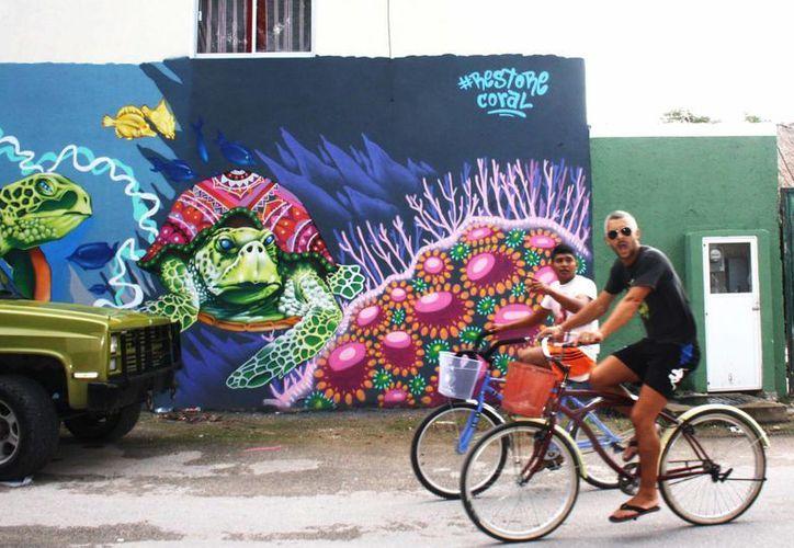Muralistas de diferentes nacionalidades colorearán las calles de Tulum. (Sara Cauich/SIPSE)