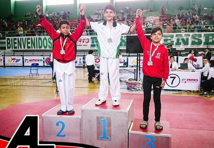 Yucatán logró dos medallas de oro, una de plata y par de bronces en la competencia de tae kwon do que se realizó en Toluca. (Milenio Novedades)
