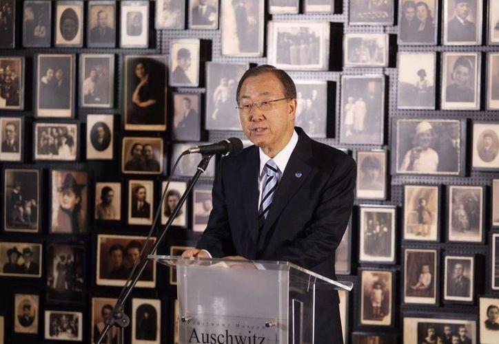 """""""Todos los niños merecen y deben recibir protección, no explotación. Deben estar en la escuela, no en ejércitos y grupos armados"""", señaló el secretario general de la ONU, Ban ki Moon. (EFE/Archivo)"""