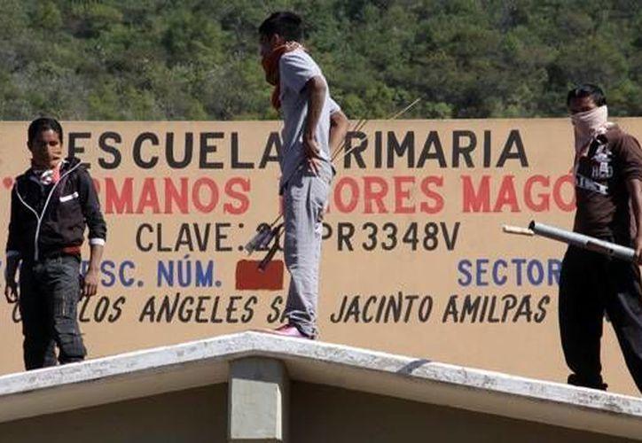 Diversas escuelas de Oaxaca fueron tomadas por la sección 22 de la CNTE. (Archivo/Notimex)