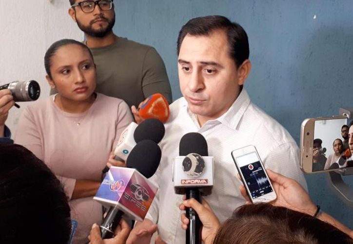 El presidente estatal del PAN, Asís Cano Cetina. (Novedades Yucatán)