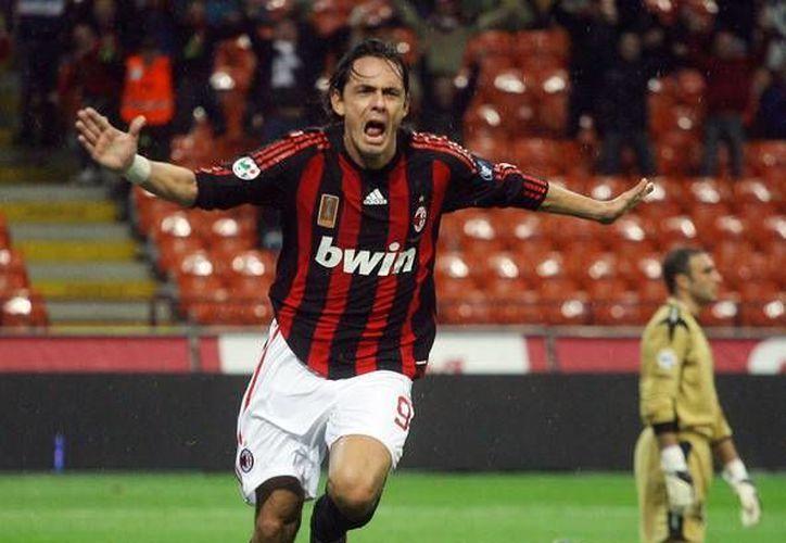 La directiva del AC Milan pretende que Inzaghi contagie a los jugadores del espítitu combativo que mostraba cuando era jugador. (zimbio.com)