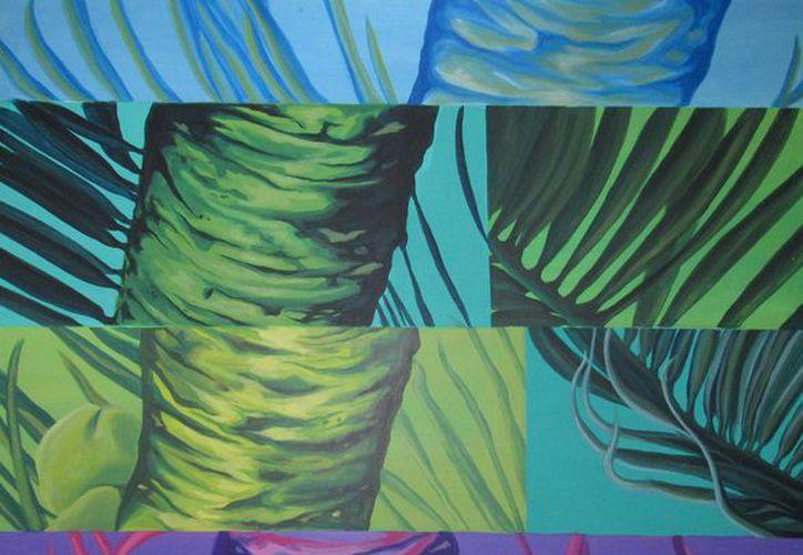 La pintora trabajó durante varias semanas para presentar 10 piezas con mucho color. (Redacción/SIPSE)
