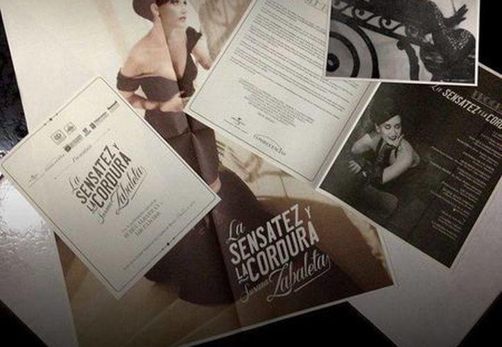 La cantante publicó en Facebook el press kit estilo vintage de su nuevo disco. (facebook.com/SusanaZabaletaOficial)