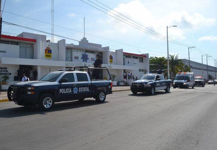 En el operativo participarán Bomberos, la Unidad de Respuesta a Emergencias Médicas, Cruz Roja, la Policía Estatal, de Tránsito,entre otros. (Harold Alcocer/SIPSE)