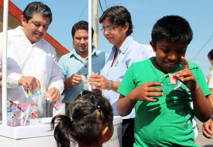 El ahorro mensual en la compra de leche de las familias es de cuatro millones, 370 mil pesos. (Milenio Novedades)