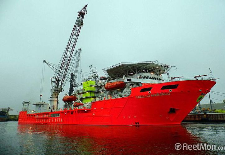 'Caballo Marango' es una de las embarcaciones de la empresa Oceanografía que es reclamada por sus acreedores. (fleetmon.com)