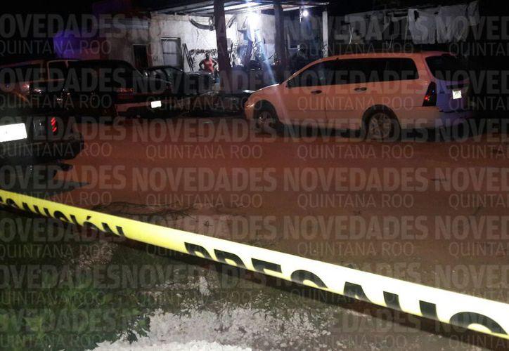 Acordonan la zona en Puerto Morelos. (Foto: SIPSE)