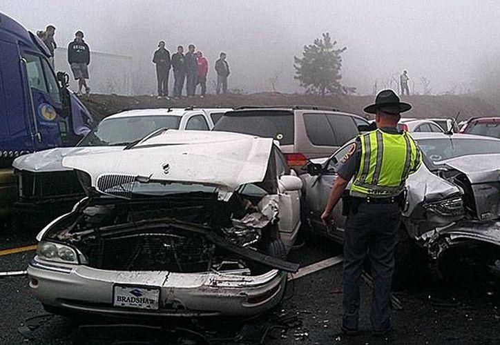 El choque ocasionó una congestión de ocho kilómetros. (foto de contexto/noticia24h.com)