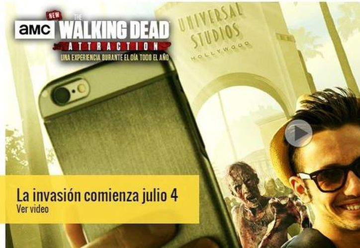 El parque Universal Studios Hollywood contará a partir del 4 de julio con una atracción permanente basada en la popular serie <i>The Walking Dead</i>. (Universal Studios)
