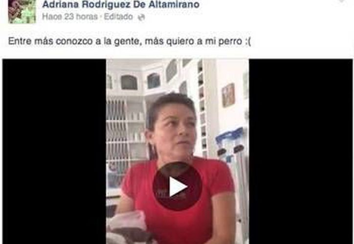 Adriana Rodríguez, subió a su cuenta de Facebook un video donde ella y su marido regañan a su trabajadora doméstica. (Foto/Internet)